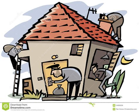 thieves into house stock illustration image of