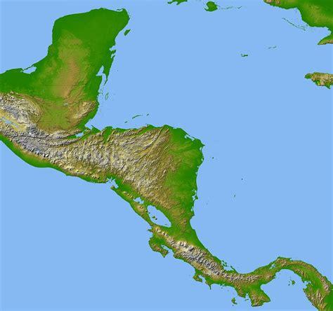 topographic map america file topographic map of central america jpg wikimedia