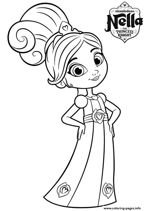 coloring pages knights and princesses 8 year old princess nella knight coloring pages printable