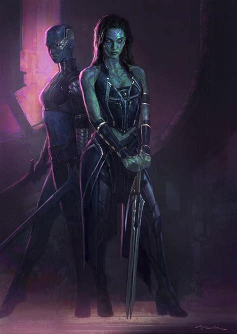 guardians galaxy concept art guardians of the galaxy beautiful gamora and nebula