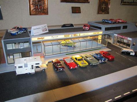 Model Car Garage Diorama Accessories by Dodge Dealership Diorama Diorama Models
