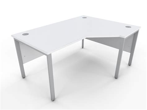 White Home Office Furniture Uk Icw White Bench Style Curve Desk A1 Office Furniture