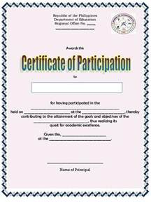 educational tips sample certificate of participation and