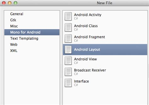 layout android creator 我的第一个 mono for android 应用 布布扣 bubuko com