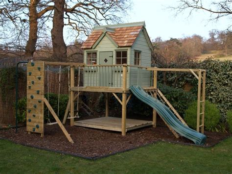 playhouse with swings childern garden playhouse with slide and swings garden