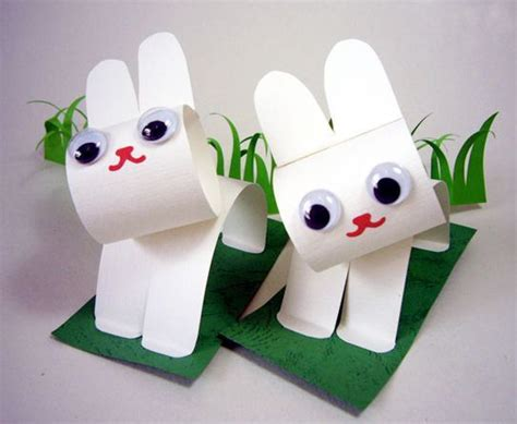 What Can I Make With Construction Paper - how to make easter bunnies with construction paper and