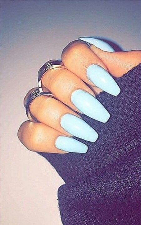 Light Nails by Light Blue Squoval Acrylic Nails Nails 2