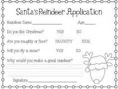 printable reindeer application a holiday favorite a reindeer application for the little