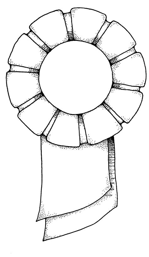 rosette template clipart best