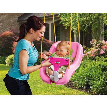 little tyke swing little tikes 2 in 1 snug n secure swing pink walmart com