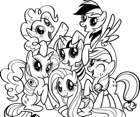 my little pony friendship is magic coloring pages for