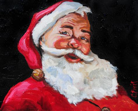 painting santa claus santa claus painting by carole foret