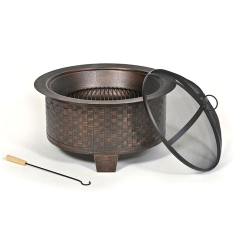 Amazon Com Cobraco Woven Base Cast Iron Fire Pit Cast Iron Firepits