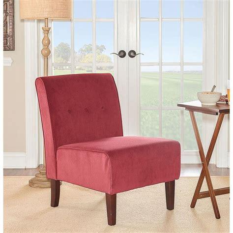 linon home decor coco fabric accent chair 36096red 01
