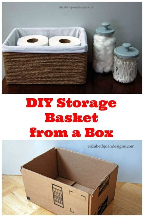 bathroom boxes baskets diy storage basket from a box this is a great way to get