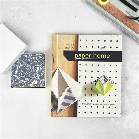 Origami Paper Set - origami book and colourful paper set by origami est