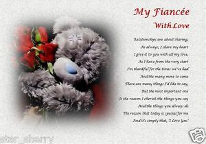fiance poems my fiancee with laminated gift personalised poem