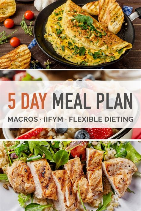 5 protein meals a day 5 day macro dieting meal plan
