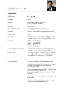 Curriculum Vitae Doc by Cv Germany Graduate Jaimin Kalaiya