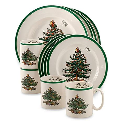 buy spode 174 christmas tree 12 piece dinnerware set from bed