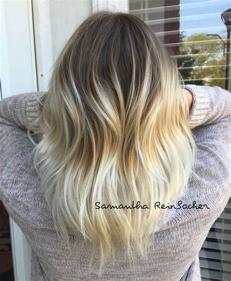 blonde roots dark ends puctures platinum balayage sombre ombre dark roots blonde ends