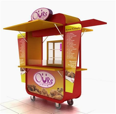 desain gerobak jualan gorengan display waralaba display kerepes leker lubuay