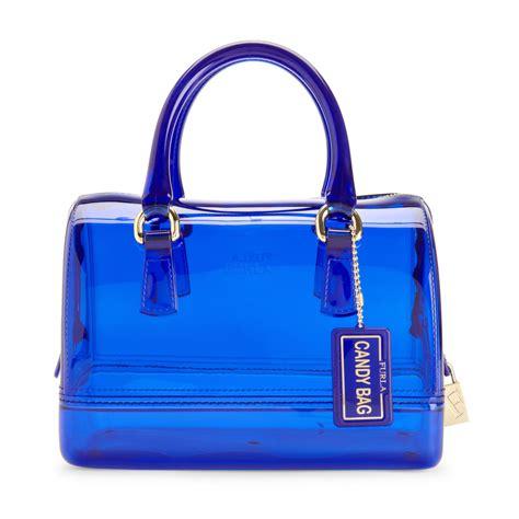 furla mini bauletto bag in blue lyst