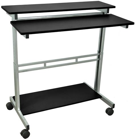 Height Adjustable Computer Desk Sit Or Stand Adjustable Height Computer Desk Workstation