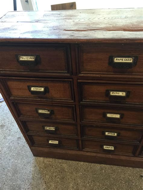 antique 1900s apothecary pharmacy store chest 30