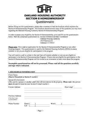section 8 application forms section 8 form fill online printable fillable blank