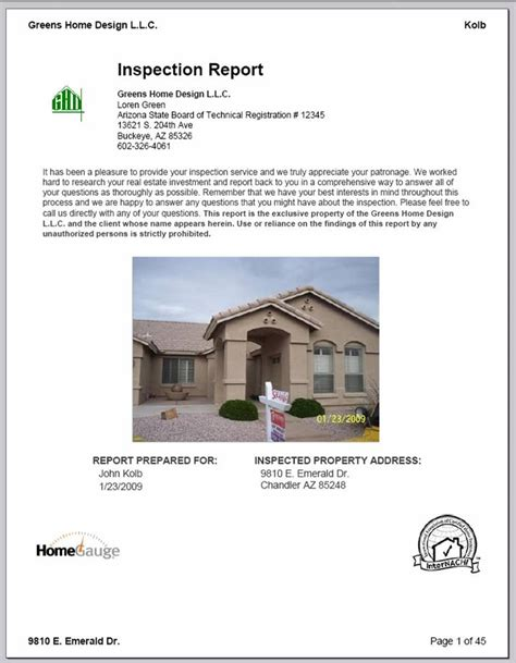 sle home inspection report home inspector