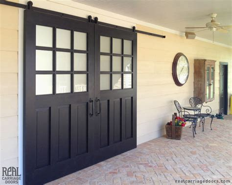 Sliding Exterior Barn Doors Exterior Sliding Barn Doors Traditional Patio Other Metro By Real Carriage Door Company