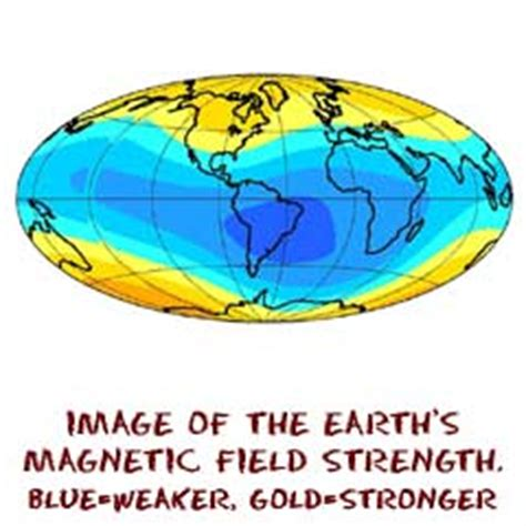 Strength Of Earth S Magnetic Field In Tesla Geography4kids Earth Structure Magnetic Field