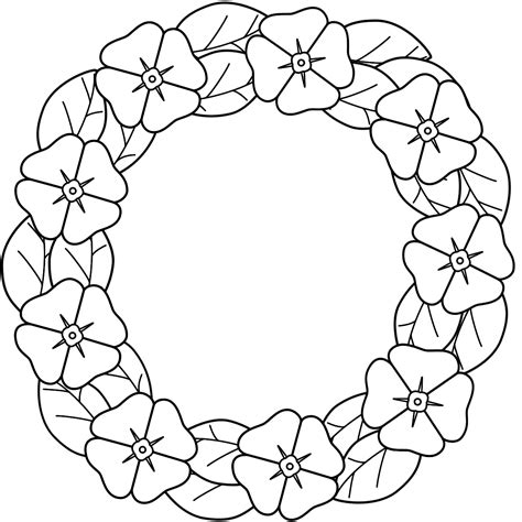 coloring pages for remembrance day poppy wreath coloring page remembrance day coloring home