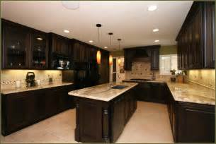 Kitchen Cabinets Cherry Wood Cherry Kitchen Cabinets With Granite Countertops Home