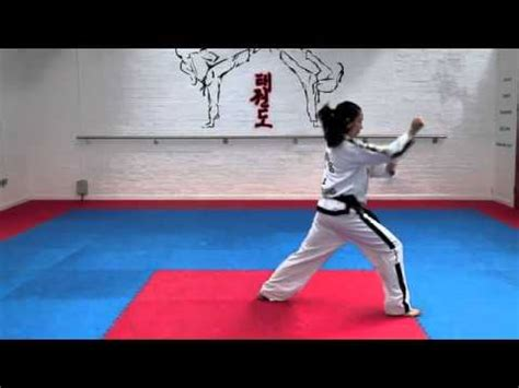 Yul Gok Pattern Youtube | yul gok tul and basic movements for grading to 4th kup