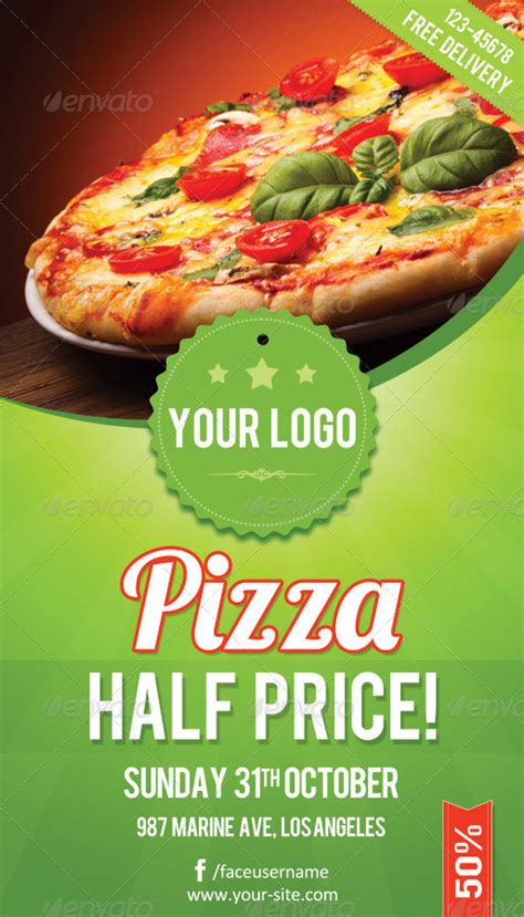 pizza flyer template free pizza flyer rsplaneta graphic design