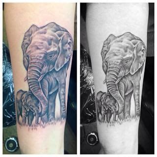 mom and baby elephant tattoo designs and baby elephant tattoos search ink