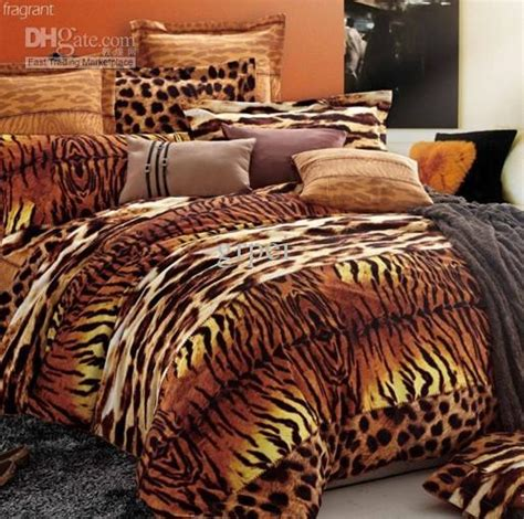 tiger leopard print bedding set comforter king queen size