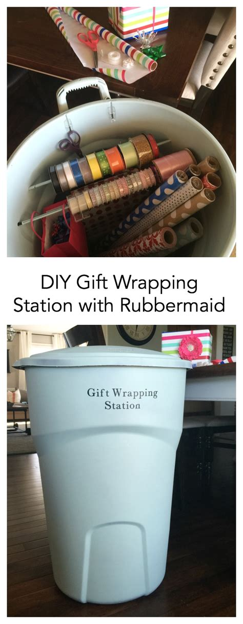 wrap gift diy gift wrap station