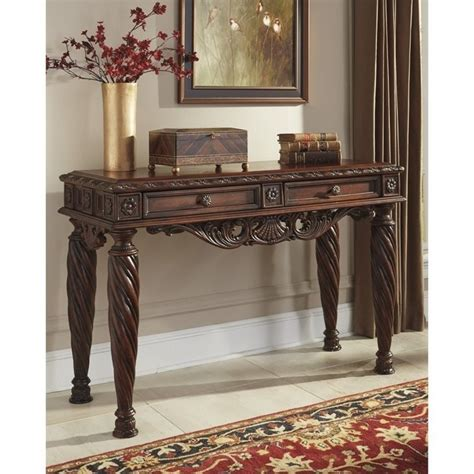 Ashley North Shore Sofa Table In Dark Brown T963 4 Shore Sofa Table