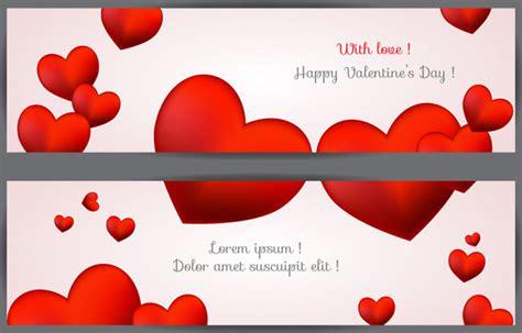 banner design love with love happy valentine day banner free vector in adobe