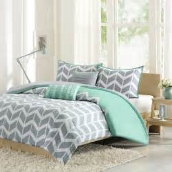 buy teal and grey chevron bedding from bed bath beyond