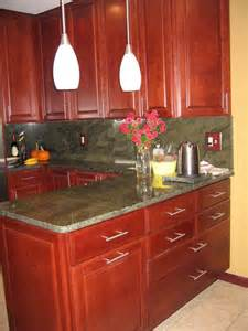Granite Countertops With Cherry Cabinets Granite Countertops With Cherry Cabinets Kitchen