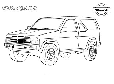 jeep coloring pages coloring page jeep nissan