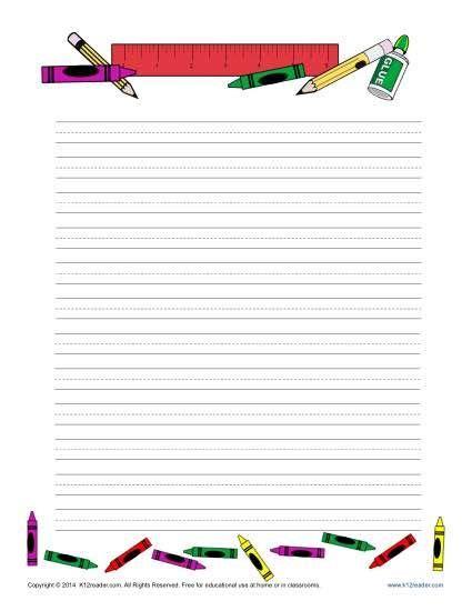 school writing paper school printable lined writing paper school writing