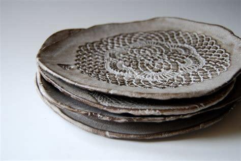 Handmade Ceramic Platters - handmade ceramic plates for dessert set of 4 serving