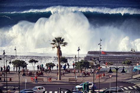 imagenes de olas impresionantes las impresionantes olas que dej 243 el temporal en tenerife