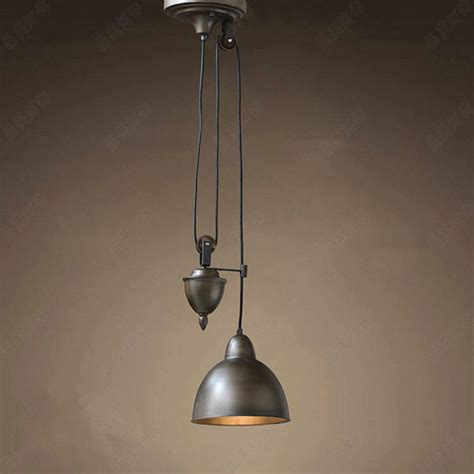 American Country Retro Pulley Pendant Lights Industrial In Hanging Light Fixtures
