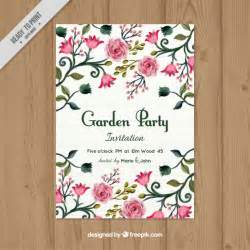 garden invitation vector free